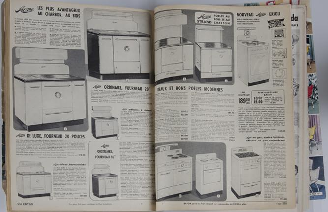 Electric, wood and coal stoves in the Eaton catalogue (excerpt).